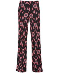 Etro - Printed Silk Jersey Pants - Lyst