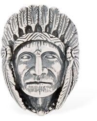 """Cantini Mc Firenze Ring """"great Indian Head"""" - Mettallic"""