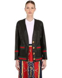 new arrival 18074 aa946 Giacca In Pelle - Nero