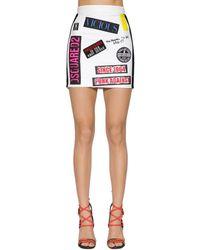 DSquared² - Patch Logo Mini Skirt - Lyst