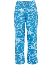 """Jaded London Bedruckte Skate-jeans """"swimming Pool"""" - Blau"""