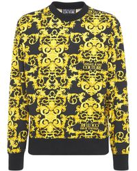 Versace Jeans Couture Baroque コットンスウェットシャツ - イエロー