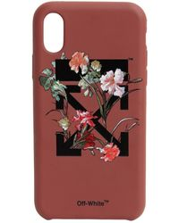 Off-White c/o Virgil Abloh Flower Printed Iphone X Cover - Multicolour