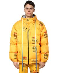Off-White c/o Virgil Abloh Industrial Logo Puffer Jacket - Yellow