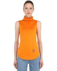 Loewe Топ С Высоким Воротником - Оранжевый