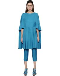 Gianluca Capannolo - Flared Viscose Tunic Dress - Lyst