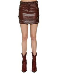 DSquared² - Studded Leather Mini Skirt - Lyst
