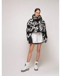 Dolce & Gabbana Graffiti ナイロンダウンジャケット - ブラック