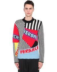 Versace Pullover Aus Wolljacquard - Rot
