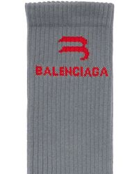 "Balenciaga Tennis-socken ""sporty B"" - Grau"