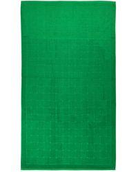 Bottega Veneta Пляжное Полотенце Из Хлопка С Принтом - Зеленый