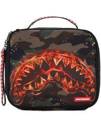 """Sprayground Tasche """"fire Shark Snack Pack"""" - Mehrfarbig"""