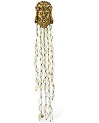Gucci Hercules Crystal Pendant Pin - Mehrfarbig
