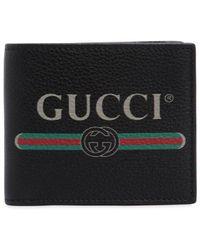 Gucci Brieftasche Aus Leder Mit druck - Schwarz