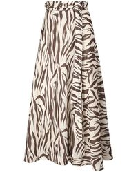 Zimmermann Юбка С Принтом Fiesta Zebra - Коричневый