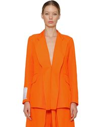 AALTO Double Panelled Linen Blend Blazer - Orange