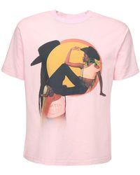 Telfar コットンジャージーtシャツ - ピンク
