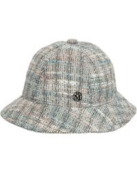 Maison Michel Твидовая Шляпа - Серый