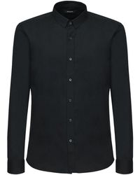 Balmain コットンポプリンシャツ - ブラック