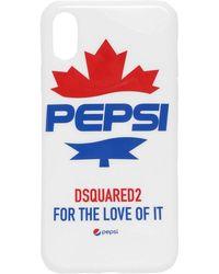 DSquared² Pepsi Iphone X ケース - ホワイト
