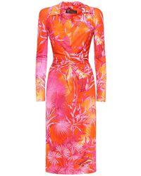 Versace Платье Из Вискозного Крепа - Многоцветный
