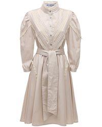 Acheval Pampa Yegua Cotton Satin Midi Dress - Natural