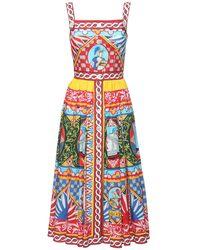 Dolce & Gabbana Платье Из Поплин С Принтом Carretto - Многоцветный
