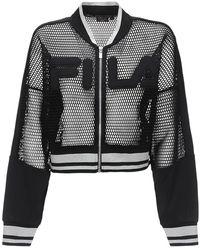 Fila Gia クロップドジャケット - ブラック