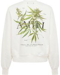 Amiri - Medical Hemp Print Jersey Sweatshirt - Lyst