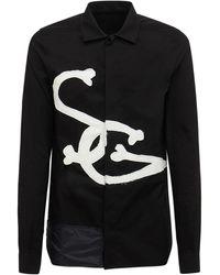 Rick Owens Lvr Exclusive コットンポプリンシャツ - ブラック