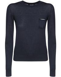 DSquared² ウールフラットニットセーター - ブルー