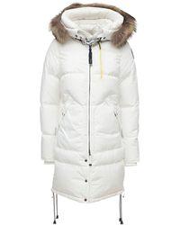 Parajumpers Langer Mantel Mit Kapuze - Weiß