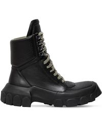 Rick Owens - 40mm Leather Hiking Trainer Boots - Lyst