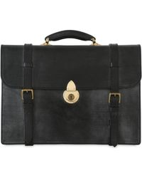 Ohba - Bridle Leather Business Briefcase - Lyst