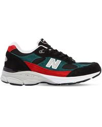 New Balance - 991.9 Made In England Leather Sneakers - Lyst