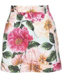 Dolce & Gabbana Платье Шорты Из Хлопкового Поплин С Принтом - Розовый