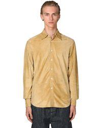 Loewe ロゴスエードシャツ - メタリック