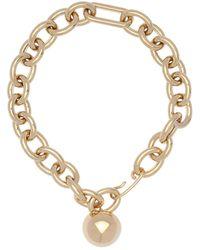 Jil Sander Chunky Chain & Sphere Necklace - Metallic
