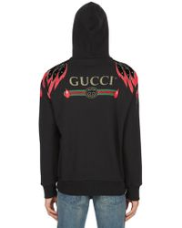 Gucci - Embellished Hooded Cotton Sweatshirt - Lyst