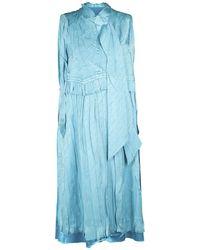 Balenciaga シルクジャカードドレス - ブルー