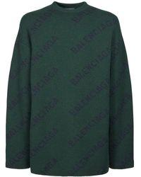 Balenciaga ウールニットセーター - グリーン