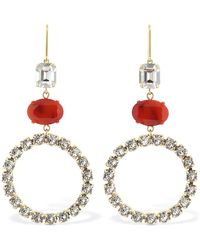 Isabel Marant Boy G Stone Crystal Small Hoop Earrings - Multicolour