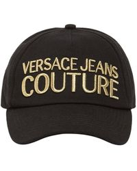 Versace Jeans Couture Embroidered Logo Baseball Hat - Black