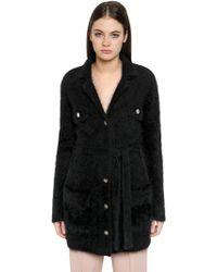 Emporio Armani - Angora Wool Blend Cardigan Jacket - Lyst