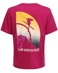 "The North Face T-shirt Aus Baumwolle ""maven"" - Pink"