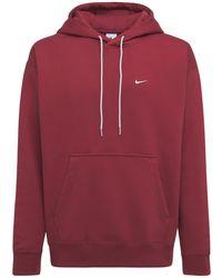 "Nike Hoodie ""solo Swoosh"" - Rot"