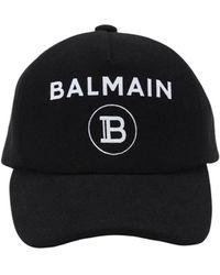 Balmain Бейсболка Из Фетра С Логотипом - Черный