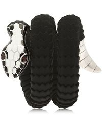 TAMARA DONALLI - Clea White Soir Snake Wrap Bracelet - Lyst