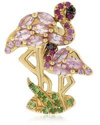 Yvonne Léon - Flamingo Gold Mono Earring - Lyst