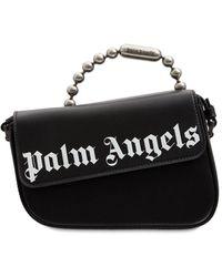 Palm Angels Crash レザーショルダーバッグ - ブラック